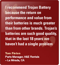 Trojan has been a supplier of the highest quality batteries for the aerial industry so far.