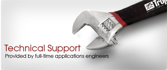 Technical Support | Provided by full-time applications engineers