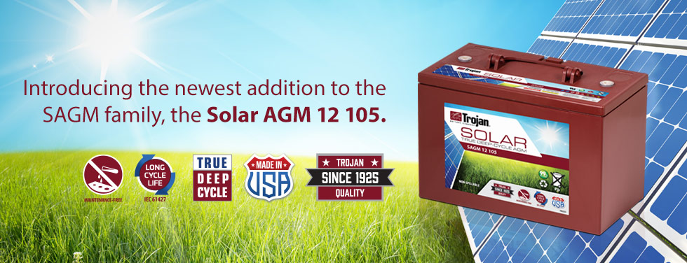 Introducing the Solar 12 105 AGM Battery